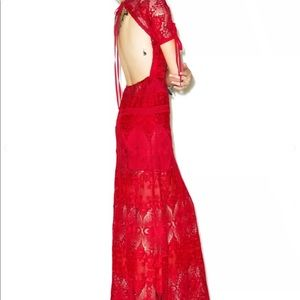 For Love & Lemons Scarlett Maxi Dress Size M